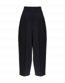 SLEEK: Wide leg, cropped pants in navy twill