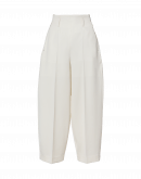 SLEEK: Wide leg, cropped pants in cream twill