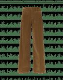 FOLLOW ON: Pantaloni in velluto di cotone marrone chiaro