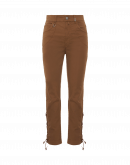 VIVACITY: Pantaloni marrone tabacco con allacciatura