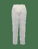 SHORELINE: Sailor pants in navy faded stripe cotton bull denim