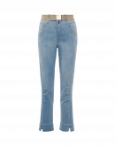 AT-PACE: Pale blue jeans with darted knee