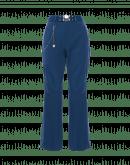 LEADER: Pantaloni svasati in lana elasticizzata blu navy
