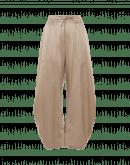 DECIPHER: Breite Hose mit gebogenem Bein aus taubengrauer Baumwolle