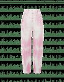 OPEN-OUT: Pink tie-dye pants in broken twill