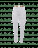 BRAVERY: Weiße Jodhpur-Hose aus Baumwolle und Leinen