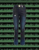 AT PACE: Jeans blu con effetto pelle e riprese
