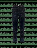 KICK OFF: Pantaloni blu con stampa e flock effetto camouflage