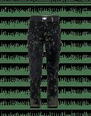 KICK OFF: Pantaloni neri con stampa e flock effetto camouflage