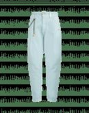 RUNAWAY: Pantaloni comodi in denim sovra tinto in azzurro