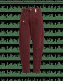 RUNAWAY: Pantaloni comodi in denim sovra tinto in color borgogna