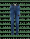 NIFTY: Jeans in denim trattato con riparazioni e toppe