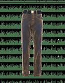 DEFIANCE: Jeans blu ricoperti in flock marrone chiaro