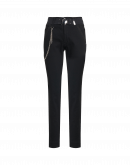 VERVE: Pantaloni neri con dettagli sfrangiati