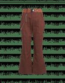 LEADER: Pantaloni gessati a campana color cannella