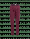 EVOLUTION: Pantaloni sagomati in cotone color melanzana
