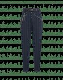 OPEN OUT: Pantaloni gessati affusolati blu navy