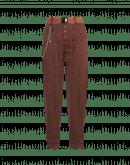OPEN OUT: Pantaloni gessati affusolati color cannella