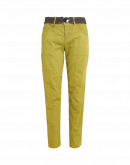 """ADAPT: Pantaloni """"patchwork"""" in cotone verde lime"""