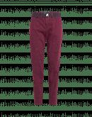 "ADAPT: Pantaloni ""patchwork"" in cotone viola melanzana"