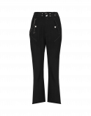 DETERMINED: Pantaloni neri alla caviglia con gamba svasata