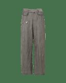 STRIDE: Pantalone a gamba ampia in micro-spigato grigio chiaro