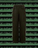 STRIDE: Pantalone a gamba ampia in micro-spigato verde oliva