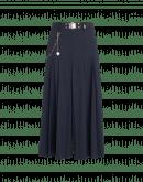 STEADY ON: Pantalone ampio blu navy con pieghe