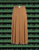 STEADY ON: Pantalone ampio color cuoio con pieghe