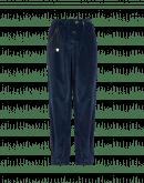 WANDERING: Pantaloni ampi in fustagno blu navy