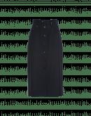 PRINCIPAL: Navy button-thru pencil skirt