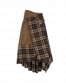 CRYPTIC: Wrap and fold over skirt in check