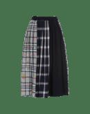 TRUST: Multi panel and pattern print skirt