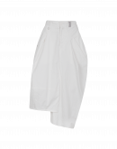 JAUNTY: Skirt-pant in cream cotton drill