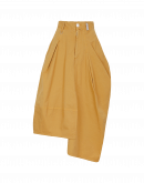 JAUNTY: Skirt-pant in mustard cotton drill