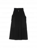 MIRTHFUL: A-line skirt in black jersey