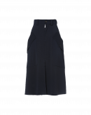 MIRTHFUL: Navy A-line skirt in viscose mix jersey