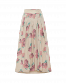 WHIMSICAL: Spiral pleated skirt in vintage look chintz