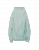 WONDER-FUL: Mint green skirt with gathered side panels