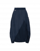 WONDER-FUL: Navy skirt with gathered side panels