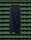 JOVIAL: Gonna asimmetrica e drappeggiata in misto lana quadrettato