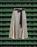 EVOLVING: Gonna grigio chiaro con inserti a godet