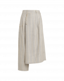 CONCEIT: Pantalone asimmetrico in lana spazzolata
