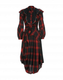 SOLILOQUI: Abito scamiciato scozzese rosso, blu e bianco