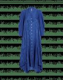 REQUIREMENT: Abito blu con stampa floreale lucida e opaca