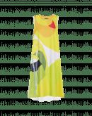 ROUND-ABOUT: Ärmelloses Kleid mit abstraktem Druck