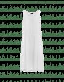 PERSUASION: Abito smanicato in ramie bianco con ricamo