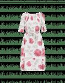 BLOOM: Abito con stampa floreale rosa, verde e bianca