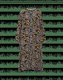 SPLENDOUR: Seidenkleid mit doppeltem Druck und Seitenrüschung