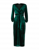 "EPIC: Winter green velvet ""wrap"" dress"